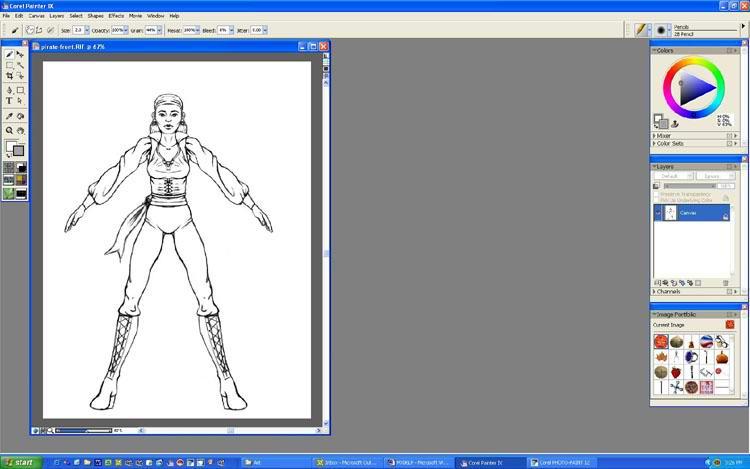 Рисовать персонажей и играть с ним